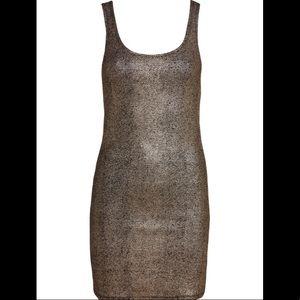 Gold Foil Dress / Tank Top - EUC😍